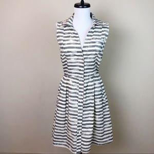 Anthropologie~Porridge Sz 6 Stripped Dress